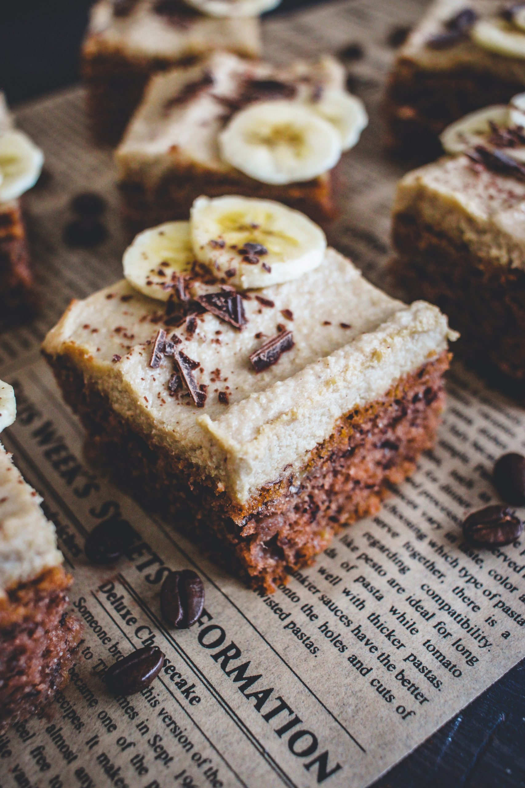 Banánový koláč s kávovým krémom